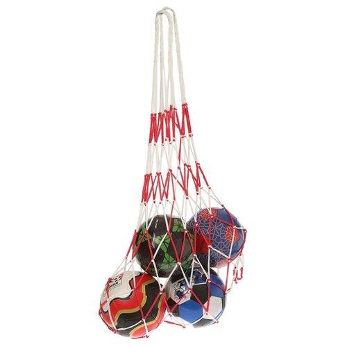 Сетка для мячей Onlitop Сетка для переноса мячей 2763601, белый/красный