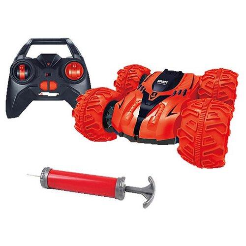 Купить Машинка-перевертыш Junfa toys 989-01 21 см красный, Радиоуправляемые игрушки