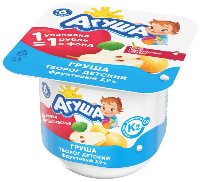 Творог Агуша Груша (с 6-ти месяцев) 3.9%, 100 г