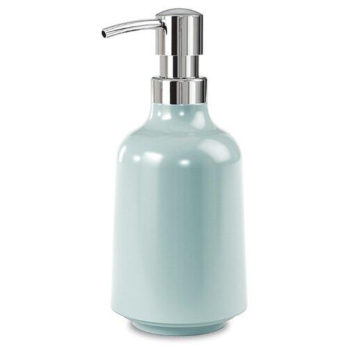 Дозатор для жидкого мыла Umbra Step, голубой дозатор для жидкого мыла proffi la maison de beaute ph9283 серо голубой