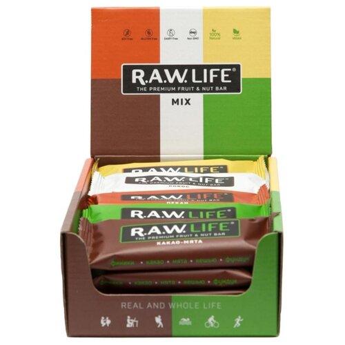 Фруктовый батончик R.A.W. Life без сахара Mix Classic, 20 шт фруктовый батончик r a w life без сахара макадамия 47 г