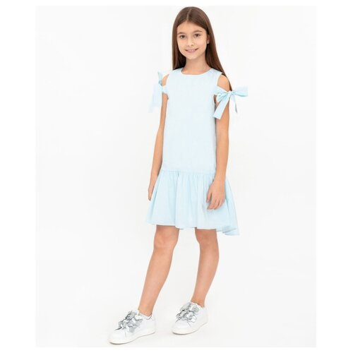 Платье Button Blue размер 116, голубой