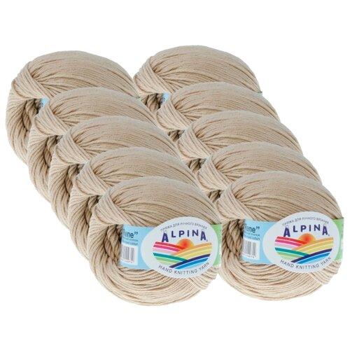 Пряжа Alpina Rene, 100 % хлопок, 50 г, 150 м, 10 шт., №213 св.бежевый Alpina   фото