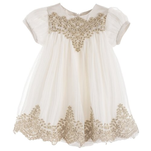 Платье Lesy размер 68, ivory/gold