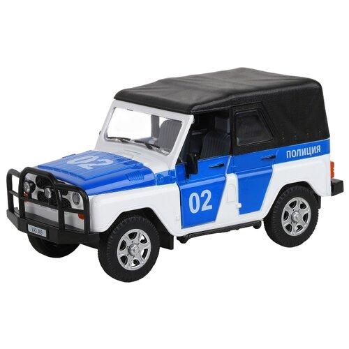 Купить Внедорожник Автопанорама УАЗ-469 Полиция (JB1200146) 1:24 17.2 см белый/синий, Машинки и техника