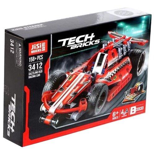 Купить Конструктор Jisi bricks (Decool) Technic 3412 Ослепительный красный, Конструкторы