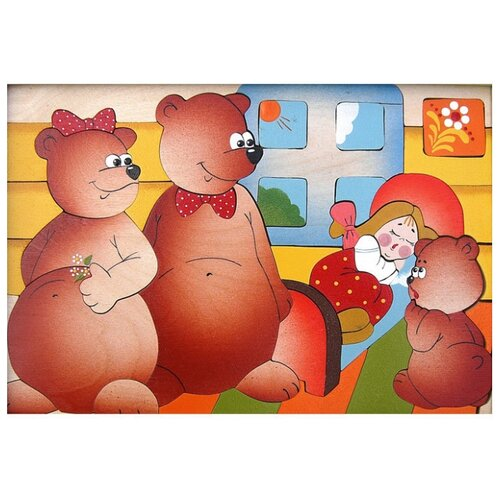 Купить Мозаика Крона Маша и три медведя, 40 деталей, Пазлы