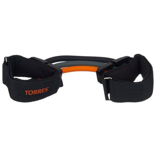Эспандер для лыжника (боксера, пловца) TORRES AL0045 29 см черный/серый/оранжевый эспандер бабочка torres thigh