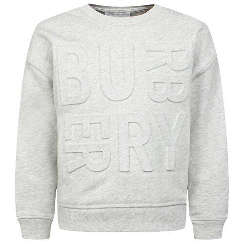 цена Свитшот Burberry размер 116, меланж онлайн в 2017 году
