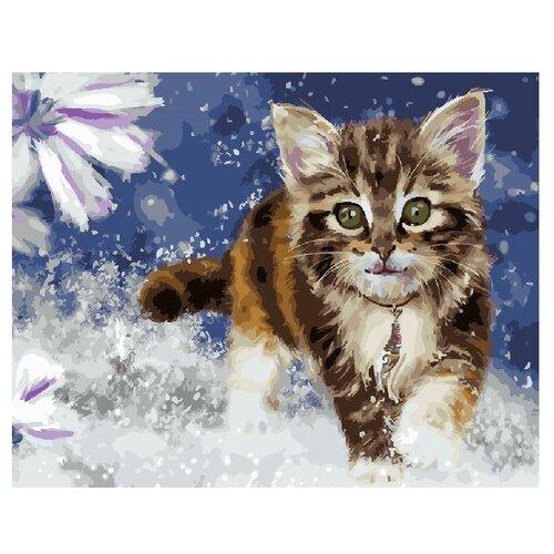 Купить ВанГогВоМне Картина по номерам Очаровательный котенок , 40х50 см (ZX 21741), Картины по номерам и контурам