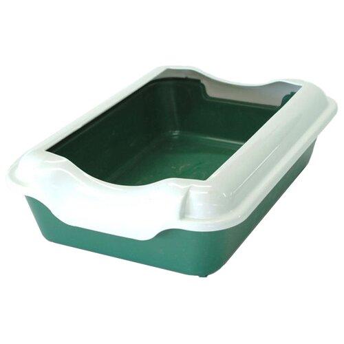Туалет-лоток для кошек Homecat 3519745/3519721/3519684/3519769/3519707/3519721_оливковый 37х27х11.5 см зеленый 1 шт.