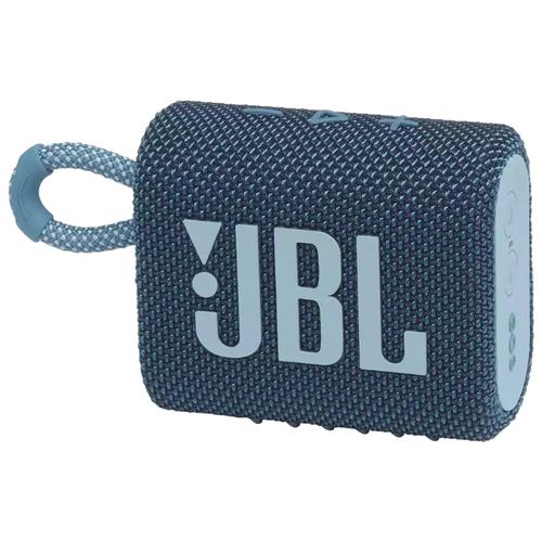 Портативная акустика JBL GO 3, blue портативная акустика jbl go 3 white