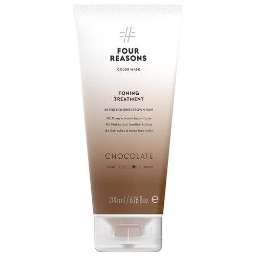 Купить Four Reasons Тонирующая маска для поддержания цвета окрашенных волос Toning Treatment Chocolate, 200 мл