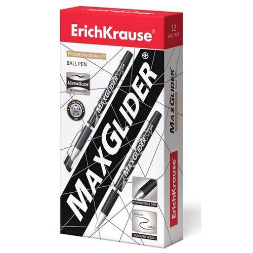 Купить ErichKrause Набор шариковых ручек MaxGlider Ultra Glide Technology 0.7 мм, 12 шт. (45213, 45214), черный цвет чернил, Ручки
