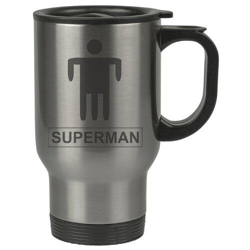 Автомобильная термокружка SUPERMEN (человек с трюмя ногами)