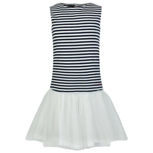 Платье Il Gufo размер 92, полоска/белый/синий джемпер il gufo размер 92 синий белый