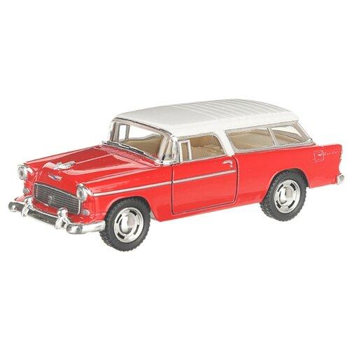 Купить Детская инерционная металлическая машинка с открывающимися дверями, модель Chevrolet Nomad, красный, Serinity Toys, Машинки и техника