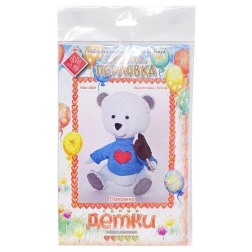 Купить Перловка Набор для шитья игрушки Мишка Лакомка (ПФД-1069), Изготовление кукол и игрушек