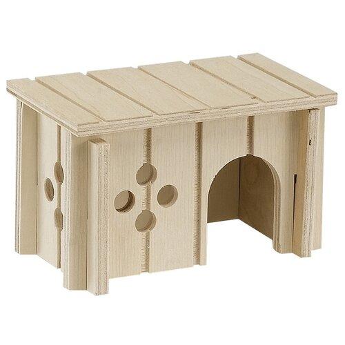 Домик для грызунов Ferplast SIN 4641 12.5х7.5х7 см бежевый домик для грызунов ferplast sin 4646 деревянный 33x23 6x16см
