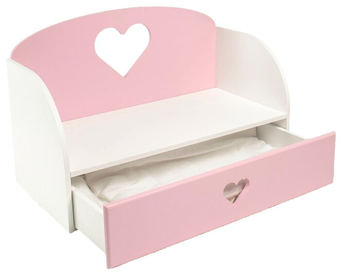 PAREMO Диван кровать для кукол Сердце (PFD120