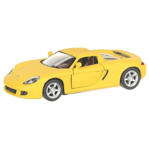 Купить Детская инерционная металлическая машинка с открывающимися дверями, модель Porsche Carrera GT, желтый, Serinity Toys, Машинки и техника