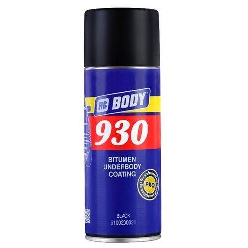 Антикор HB BODY 930 Aerosol 0.4 л баллончик черный