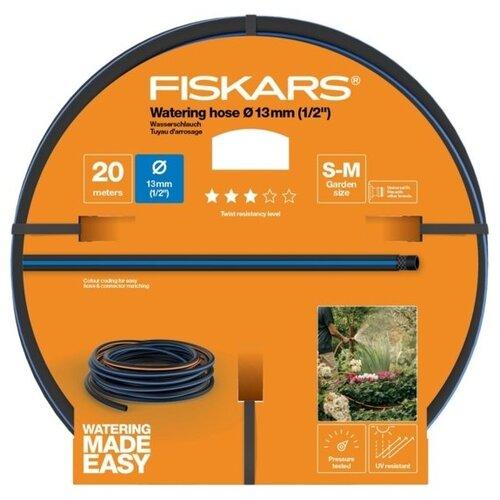 """Шланг FISKARS Q3 1/2"""" 20 метров черный/синий/оранжевый"""