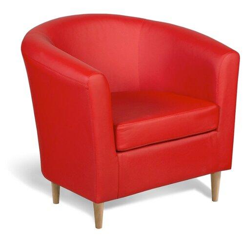 Кресло Шарм-Дизайн Евро Лайт размер: 80х79 см, обивка: искусственная кожа, цвет: красный платье oodji ultra цвет красный белый 14001071 13 46148 4512s размер xs 42 170