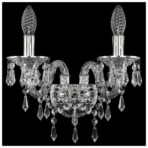 Настенный светильник Bohemia Ivele Crystal 16103B/2/141 Ni, 80 Вт светильник bohemia ivele crystal 7710 22 1 ni e27 40 вт