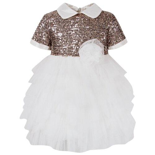 Платье Aletta размер 80, белый/серебряный