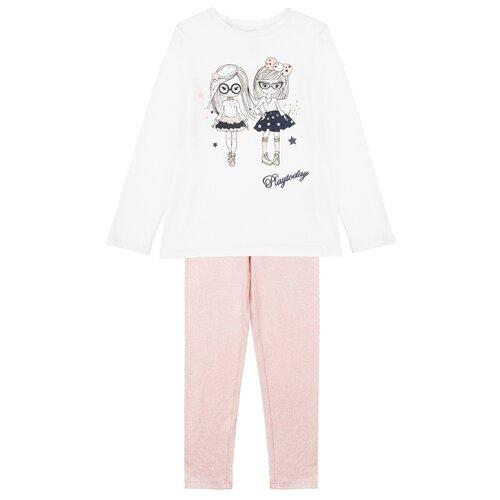 Комплект одежды playToday размер 110, белый/розовый комплект одежды playtoday размер 110 белый светло розовый