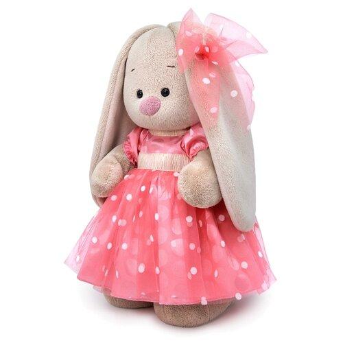 Мягкая игрушка Зайка Ми в розовом платье 25 см мягкая игрушка зайка ми в платье в стиле кантри 25 см