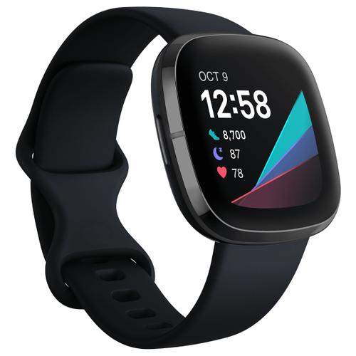 Умные часы Fitbit Sense, carbon/graphite stainless steel size: