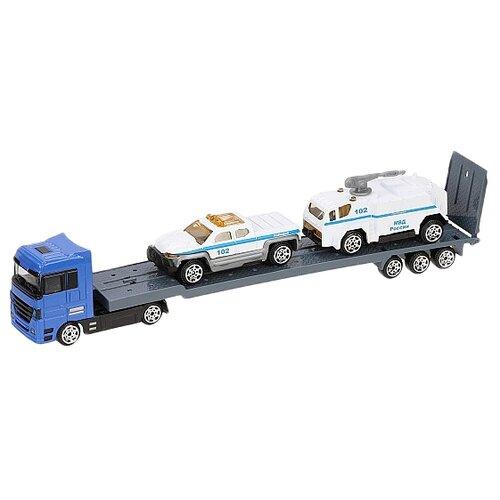Купить Набор машин Пламенный мотор Полиция (870455) синий/серый/белый, Машинки и техника