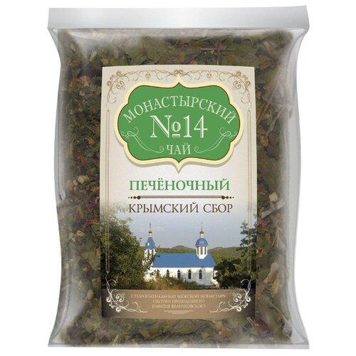 Фото - Чай травяной Крымский чай Монастырский № 14 Печёночный, 100 г чай травяной aroma монастырский 100 г