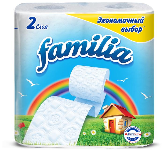 Полотенца бумажные Familia Радуга белые двухслойные