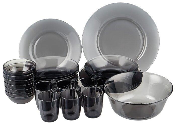 Набор столовой посуды Luminarc Директор графит, N5771, 31 предмет