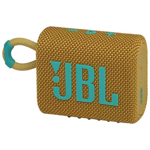 Портативная акустика JBL GO 3, yellow портативная акустика jbl go 3 white