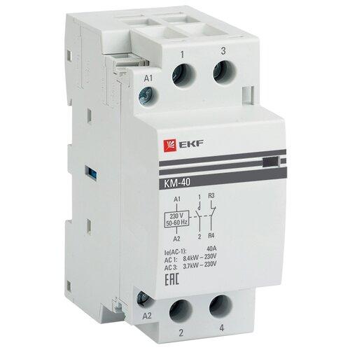 Модульный контактор EKF КМ 40А NО+NC (2 мод.) PROxima 40А