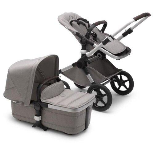 Купить Универсальная коляска Bugaboo Fox 2 complete (2 в 1) alu/light grey/light grey, цвет шасси: серебристый, Коляски