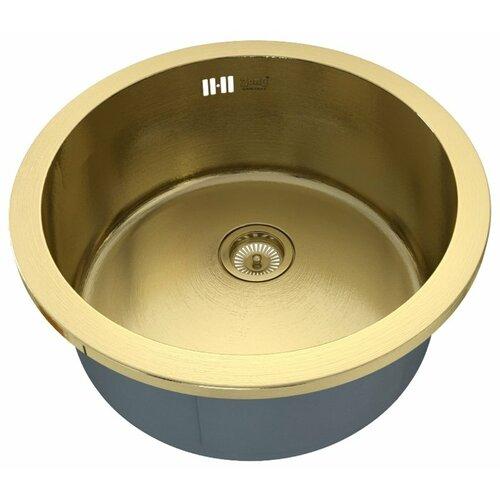 Фото - Врезная кухонная мойка 47.2 см ZorG PVD SZR-500 BRONZE бронза врезная кухонная мойка 78 см zorg szr 78 2 51 r bronze бронза