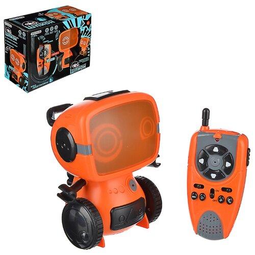 Игрушка РУ в виде робота-шпиона с рацией ИГРОЛЕНД, 27МГц, ABS, 6хААА, движение, свет, звук, 25x11x