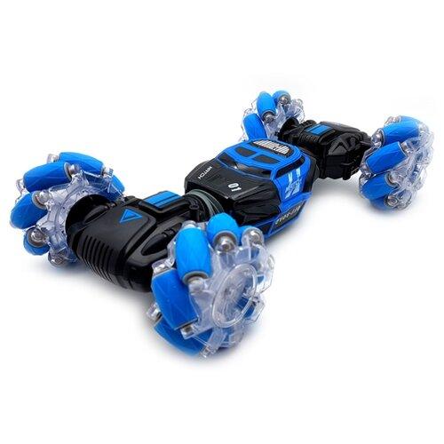 Купить Машинка-перевертыш ZhengGuang Hyper (UD2196A), с управлением жестами 1:16 33 см синий/черный, Радиоуправляемые игрушки