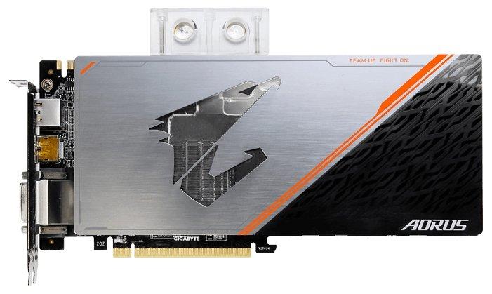 GIGABYTE Видеокарта GIGABYTE GeForce GTX 1080 Ti 1632MHz PCI-E 3.0 11264MB 11448MHz 352 bit DVI 3xHDMI HDCP Aorus Waterforce WB Xtreme Edition