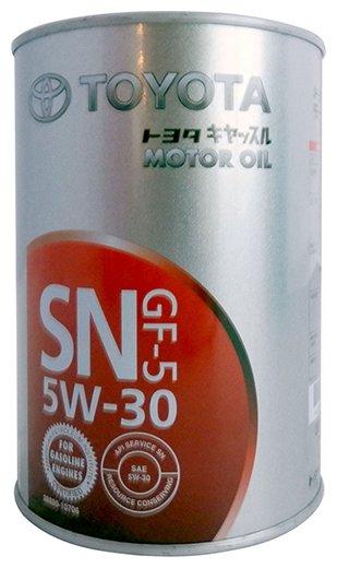 Купить Моторное масло TOYOTA SN 5W-30 1 л по низкой цене с доставкой из Яндекс.Маркета