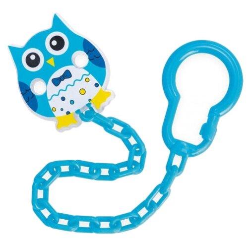 Купить Держатель пустышки Canpol Babies Owls 0 м (1 шт.) голубой, Пустышки и аксессуары