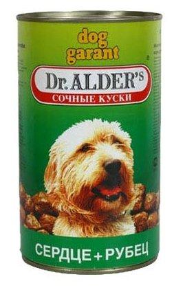 Корм для собак Dr. Alder`s ДОГ ГАРАНТ рубец + сердце кусочки в желе Для взрослых собак (1.2 кг) 6 шт.