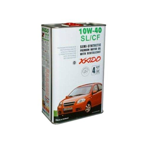Полусинтетическое моторное масло XADO Atomic Oil 10W-40 SL/CF, 4 л полусинтетическое моторное масло bardahl xtc 10w 40 sl cf 4 л