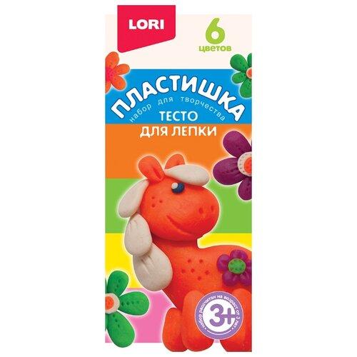 Купить Масса для лепки LORI Пластишка 15 - 6 цветов (Тдл-018), Пластилин и масса для лепки