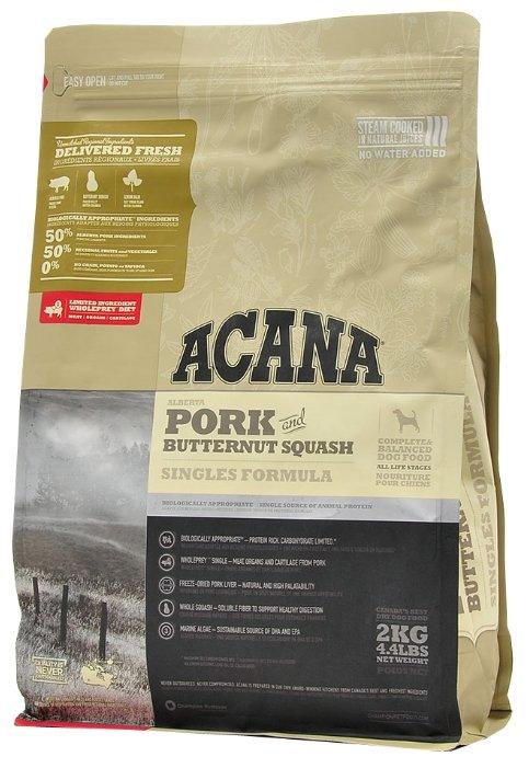 Корм для собак Acana Singles свинина с тыквой 2 кг